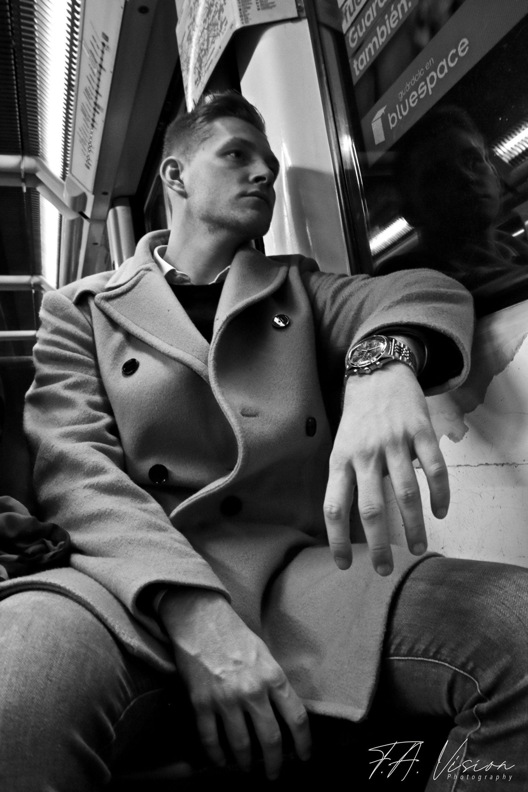 portretfotografie man trein limburg
